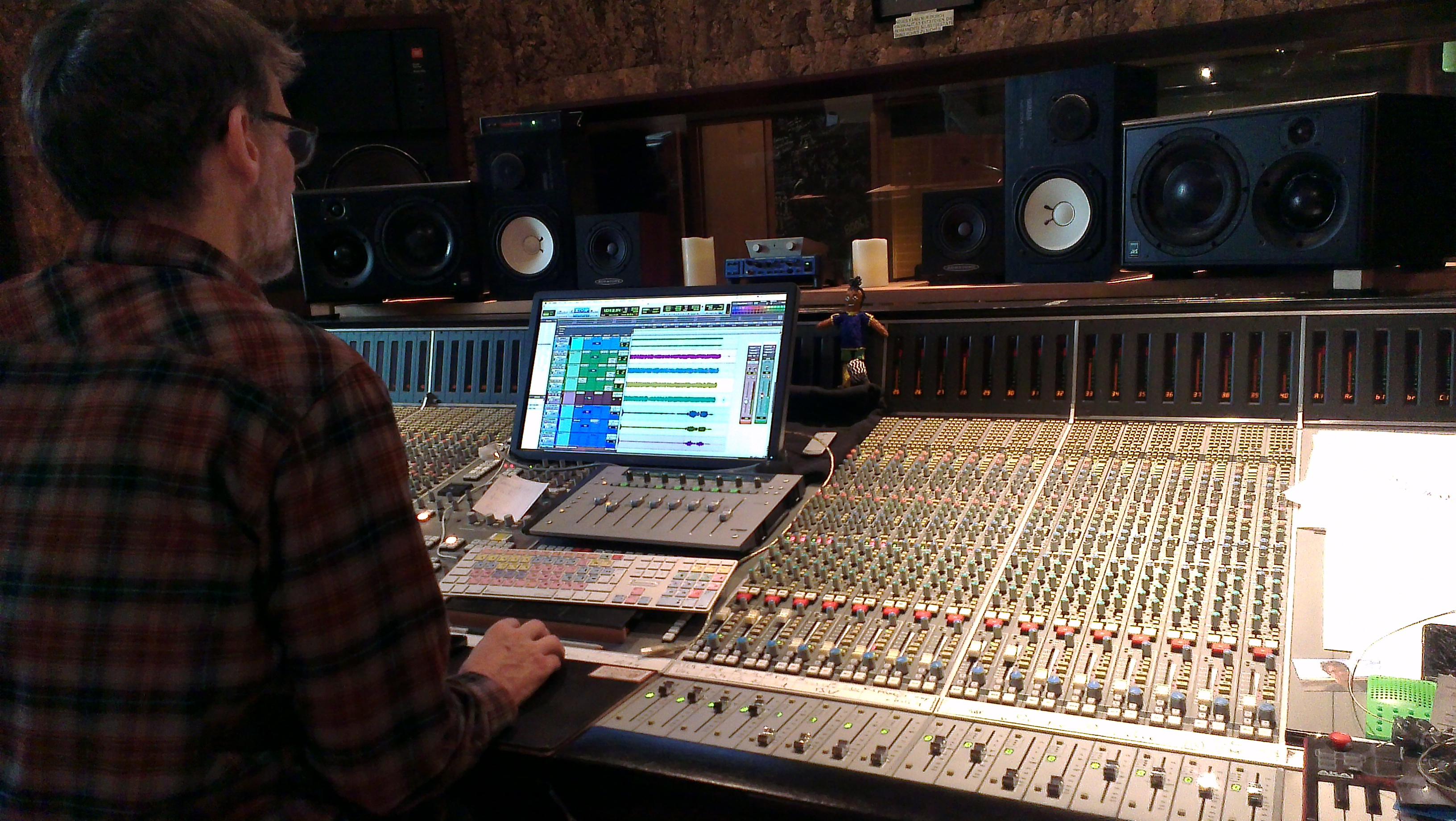 Dreharbeiten im Tonstudio
